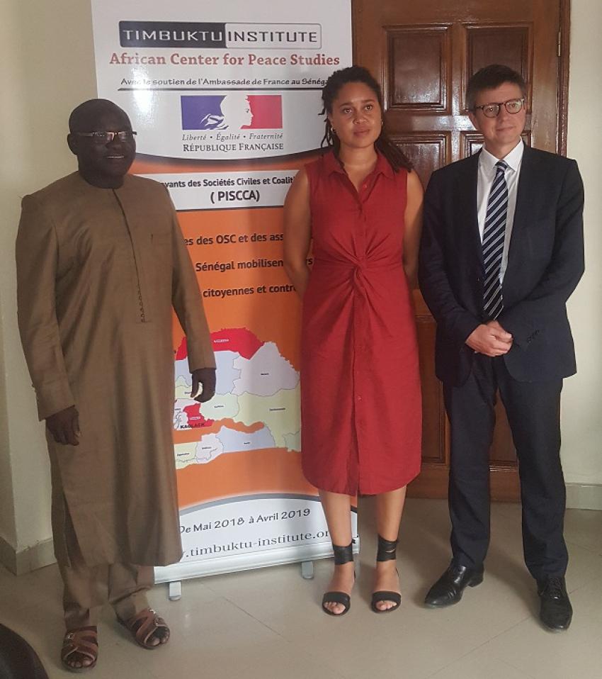 Projets innovants Sociétés Civiles (PISCCA): Timbuktu Institute reçoit une délégation du Ministère français de l'Europe et des Affaires étrangères.