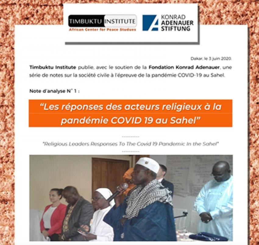 Réponses des Acteurs religieux à la pandémie Covid-19 au Sahel