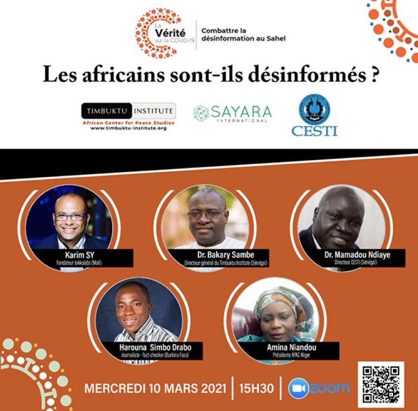 Webinaire régional consacré à la désinformation au Sahel