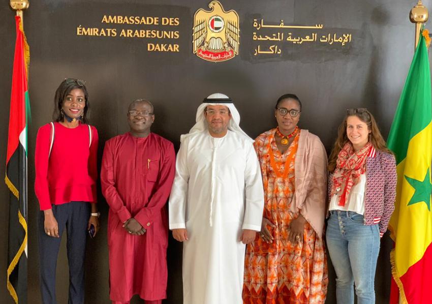 Timbuktu Institute en visite à l'Ambassade des Emirats Arabes Unis