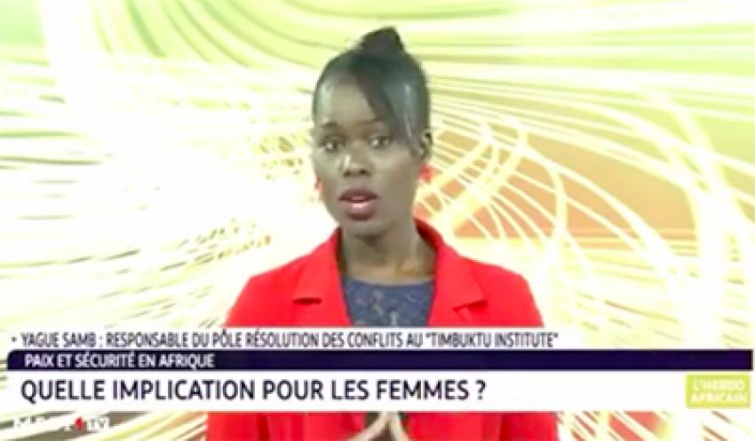 """Yague Samb, """"la place des femmes dans la résolution des conflits en Afrique""""."""